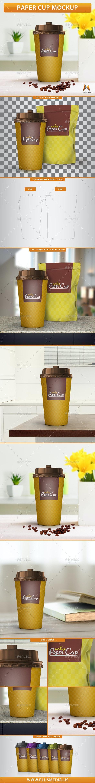 Paper Cup Mockup - Product Mock-Ups Graphics