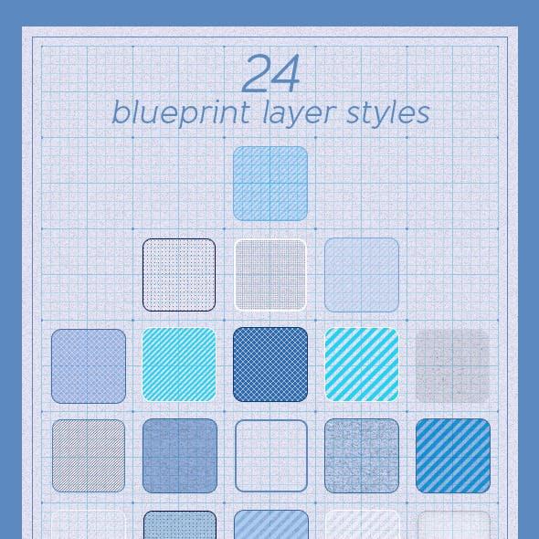 24 Blueprint Layer Styles