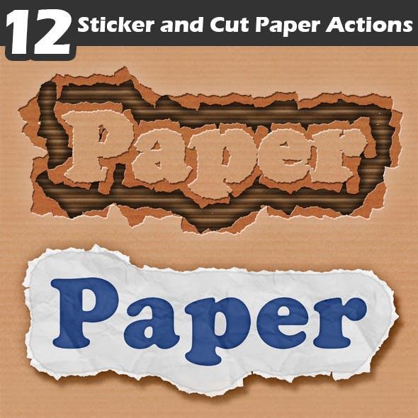 Sticker and Cut Paper