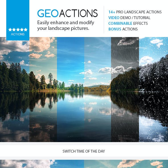 GEO - Premium Nature / Landscape Actions Set