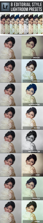8 Editorial Styles Lightroom Presets - Portrait Lightroom Presets