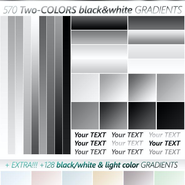The Ultimate Black & White Gradients Collection