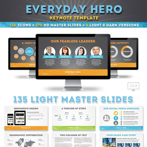 Everyday Hero Keynote Presentation Template