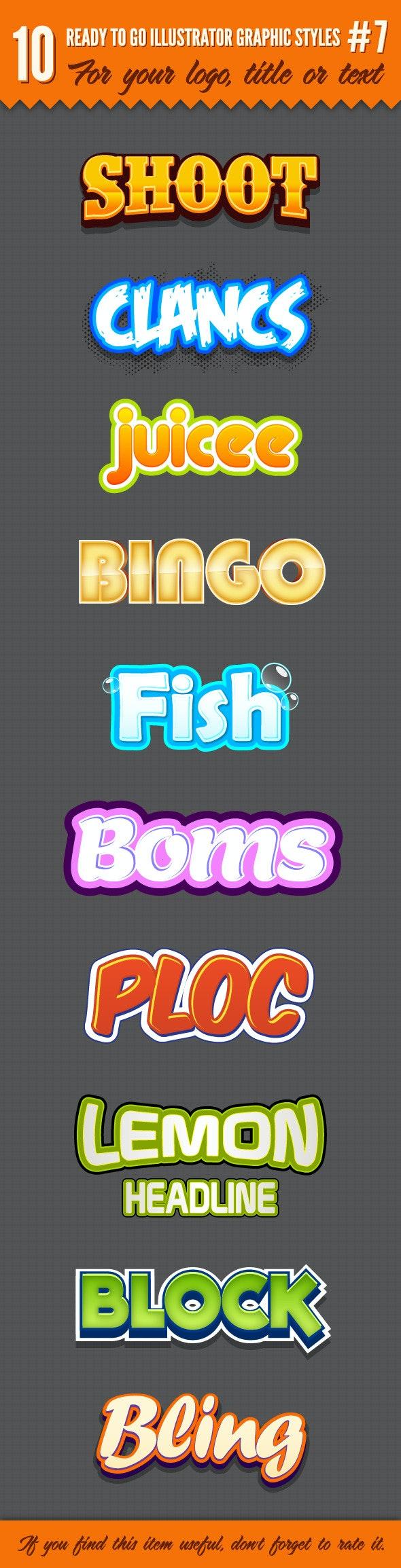 10 Logo Graphic Styles #7 - Styles Illustrator