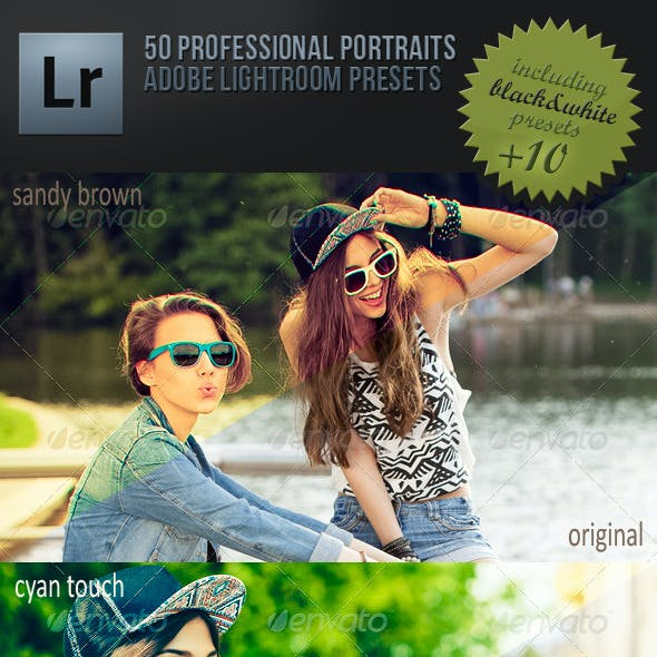 50 Professional Portraits Lightroom Presets