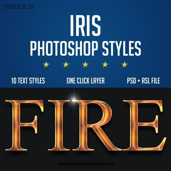 Iris Photoshop Styles