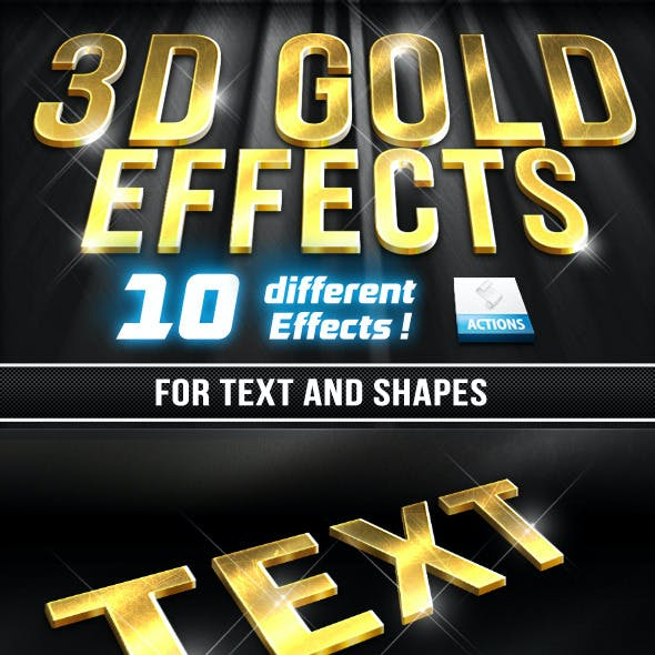 10 3D Gold Effects V 1.0