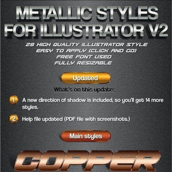 Metallic Styles for Illustrator V2
