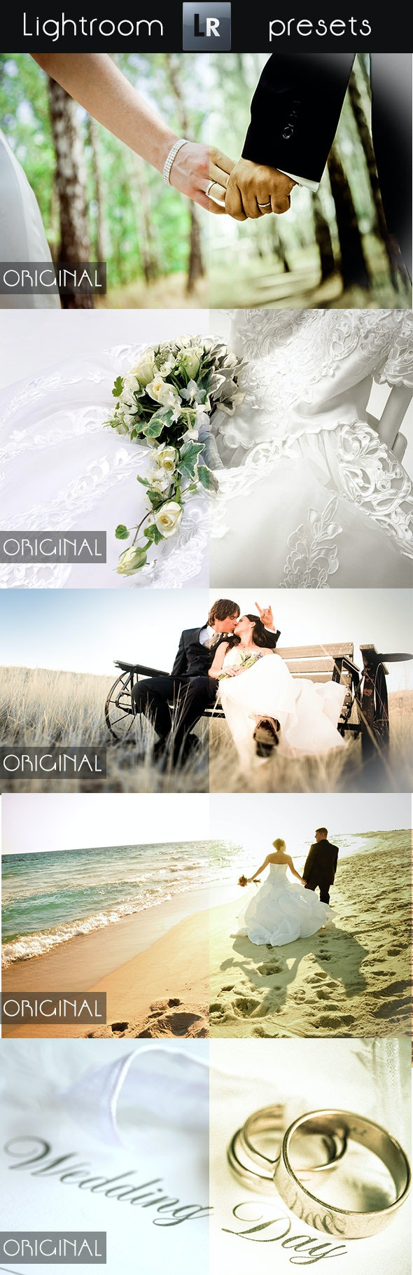 10 Wedding Pro Presets - Wedding Lightroom Presets