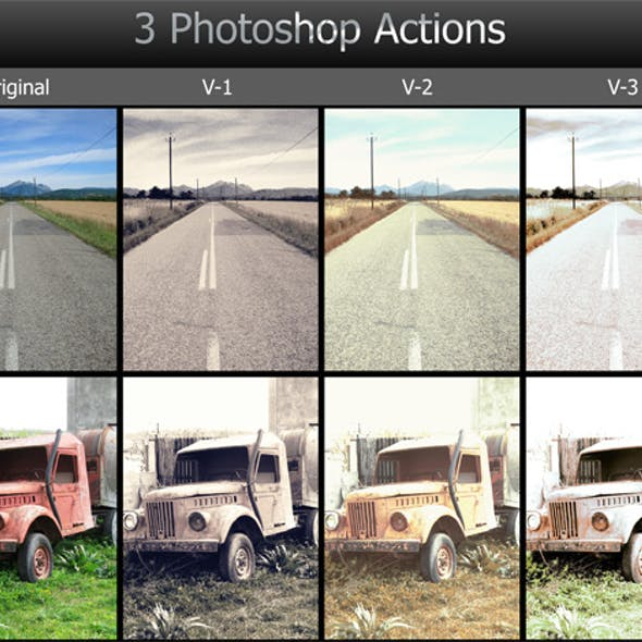3 Photoshop Actions