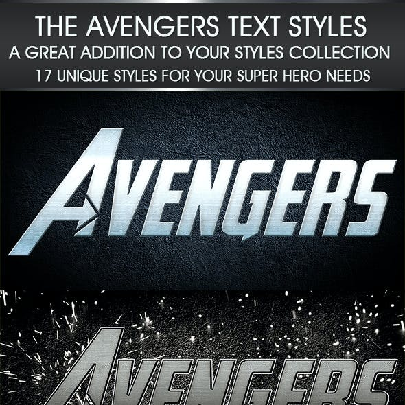The Avengers Text Styles