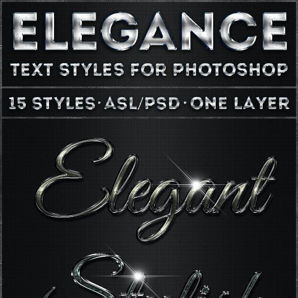 Elegance - Text Styles