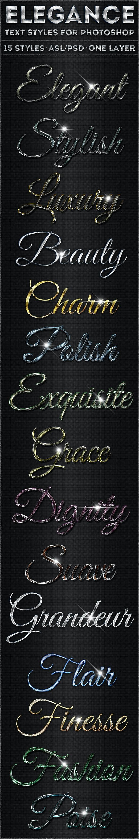 Elegance - Text Styles - Text Effects Styles