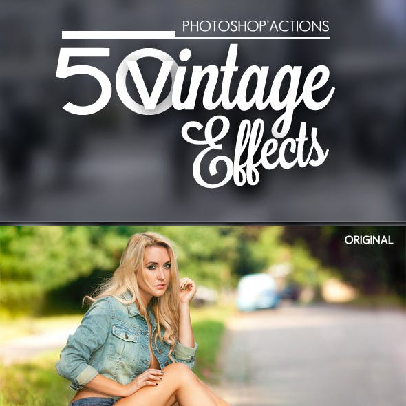 50 Vintage Effects - Ps Action Pro Pack