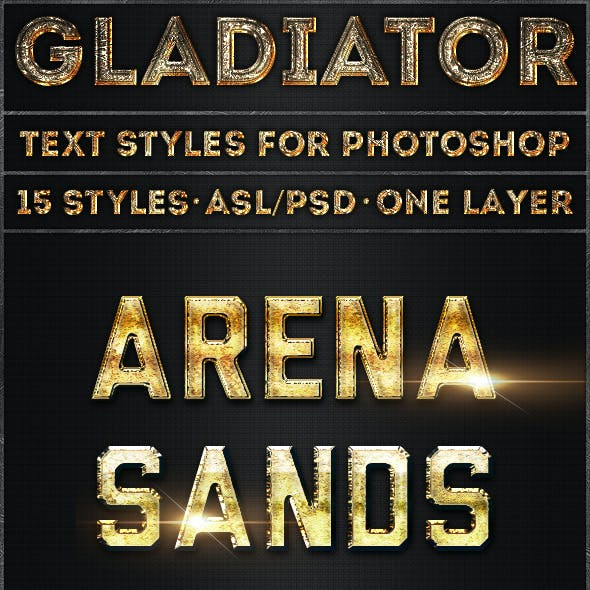 Gladiator - Text Styles