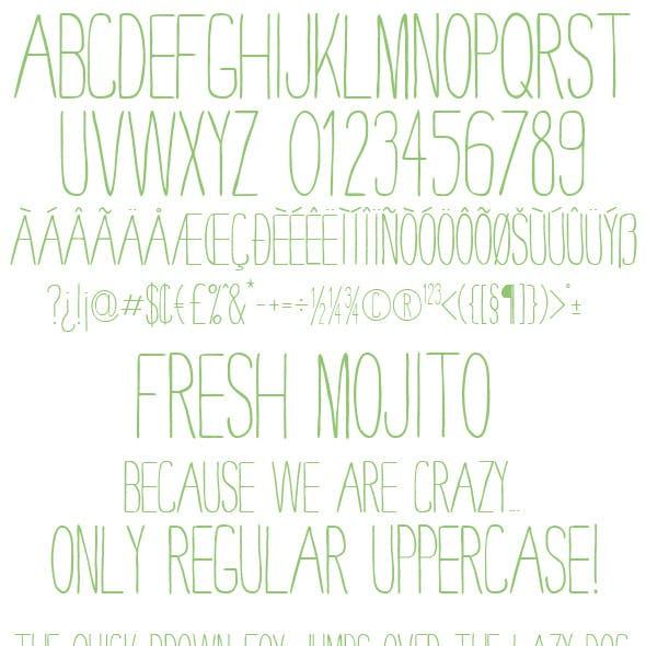 Fresh Mojito - Clean TrueType Font File