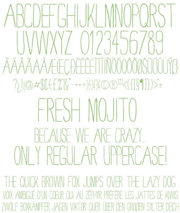Fresh Mojito - Clean TrueType Font File - Fonts