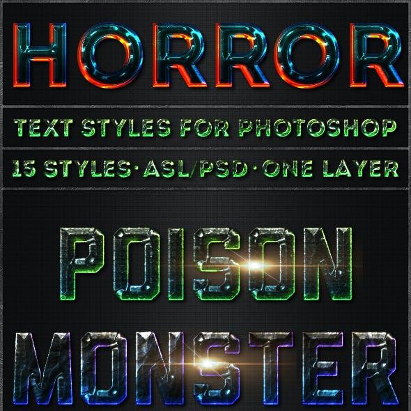 Horror - Text Styles