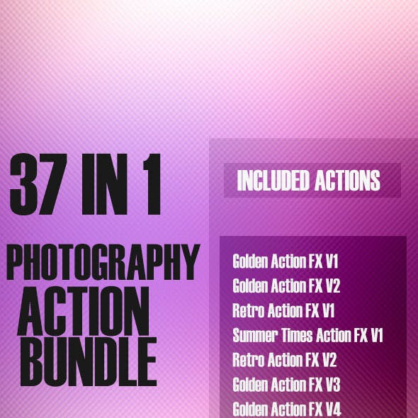 37 in 1 - Photography Action Bundle