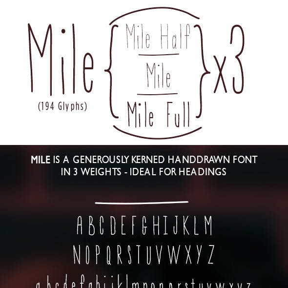 Mile Hand-Drawn Font