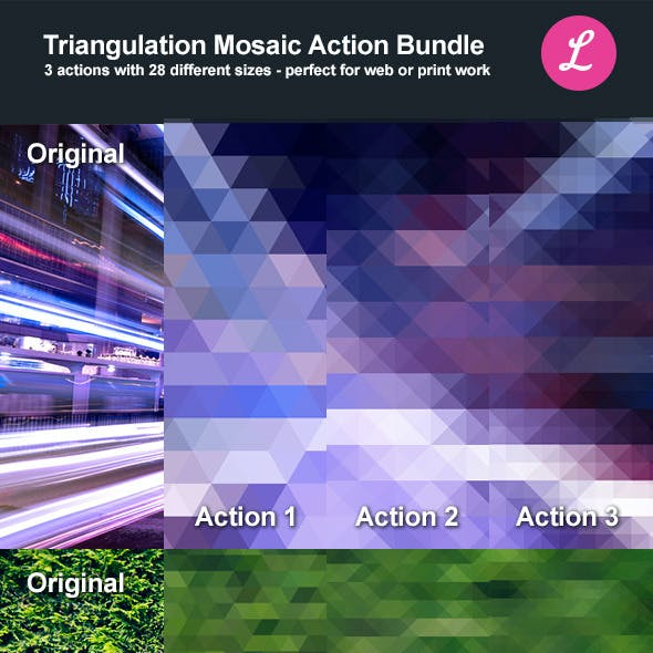 Triangulation Mosaic Bundle Actions