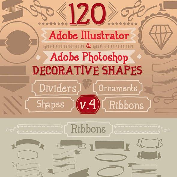 120 Handwritten Decorative Shapes 04