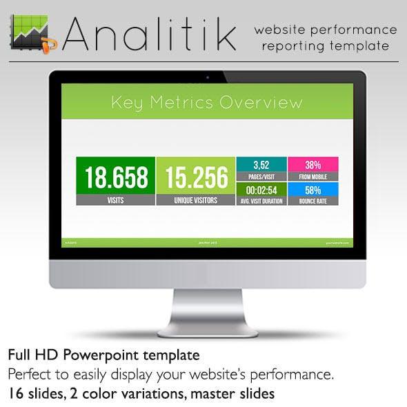 Analitik - Reporting Display Powerpoint Template