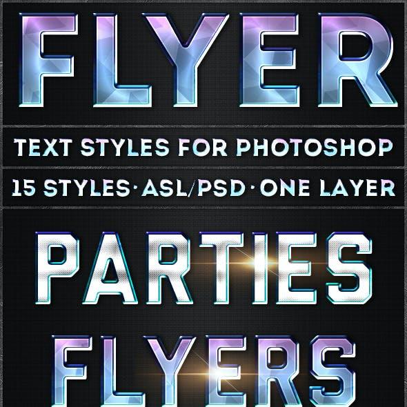 Flyer - Text Styles