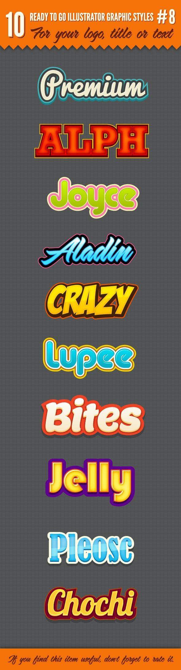 10 Logo Graphic Styles #8 - Styles Illustrator