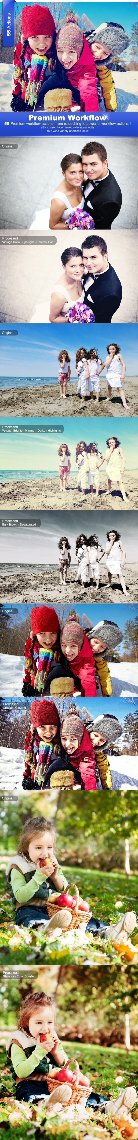 Premium Workflow Bundle - Actions Photoshop