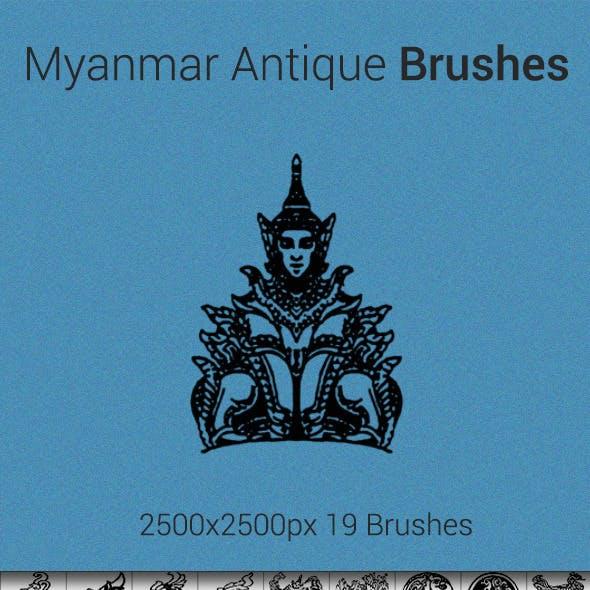 Myanmar Antique Brush