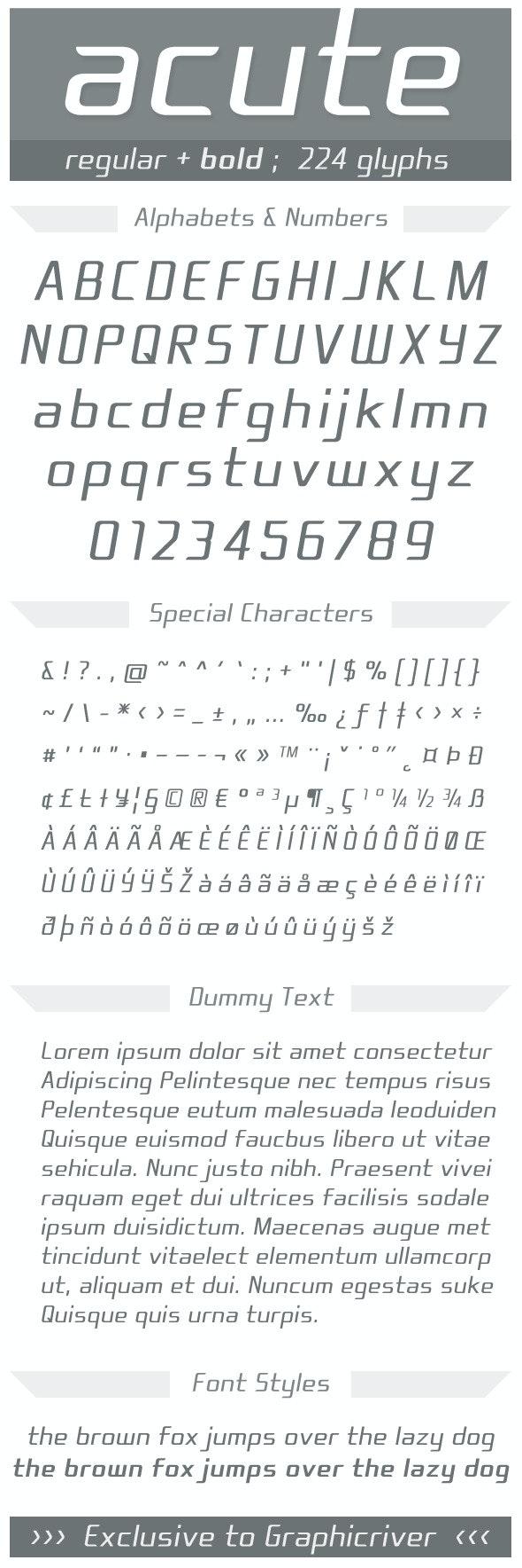 acute - Fonts