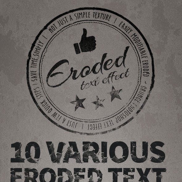 Eroded / Grunge Text Effect Generator Pack