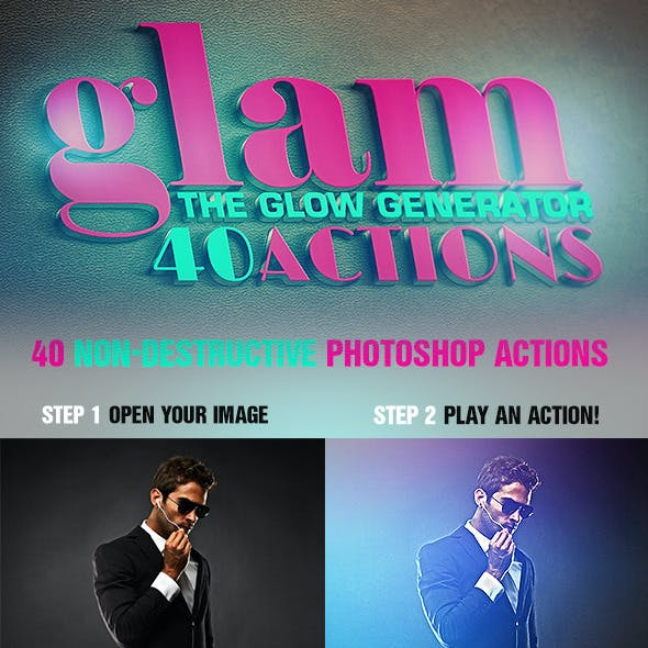 Glam - 40 Glow Generator Actions