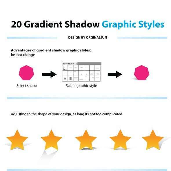 20 Gradient Shadow Graphic Styles