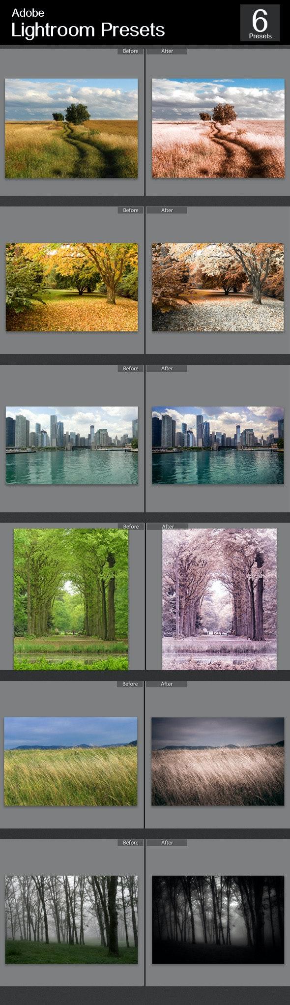 6 Lightroom Color Effect  - Landscape Lightroom Presets