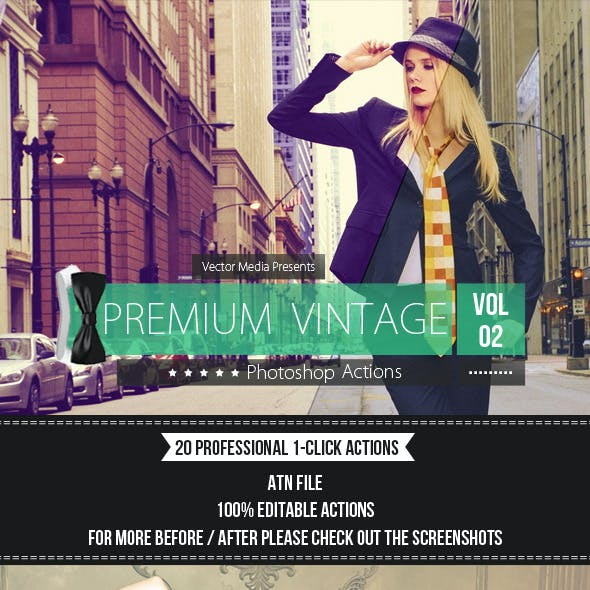 Premium Vintage - Photoshop Actions [Vol.2]