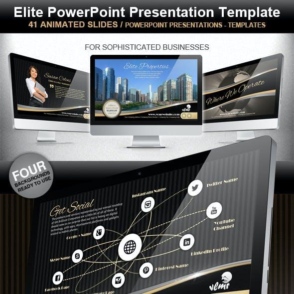 Elite Powerpoint Presentation Template