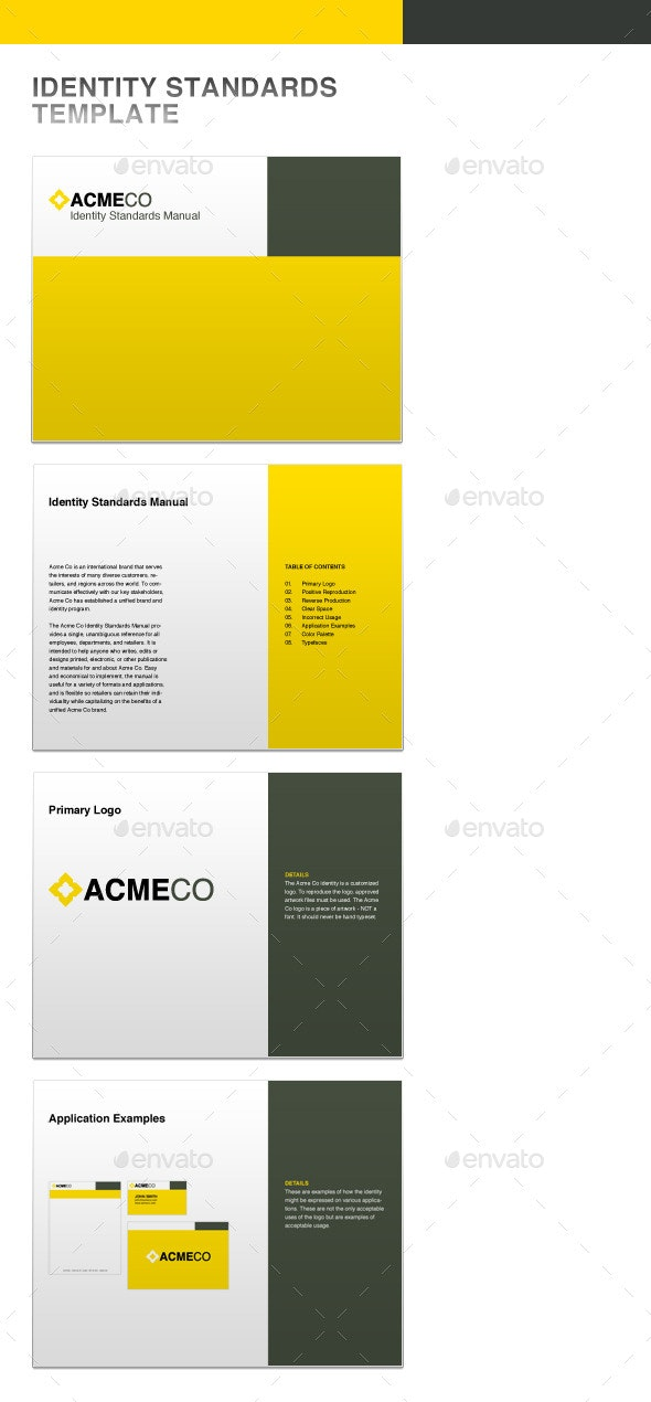 Identity Standards Guide Template - Miscellaneous Print Templates