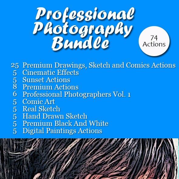 Professional Photography Bundle : 74 Actions
