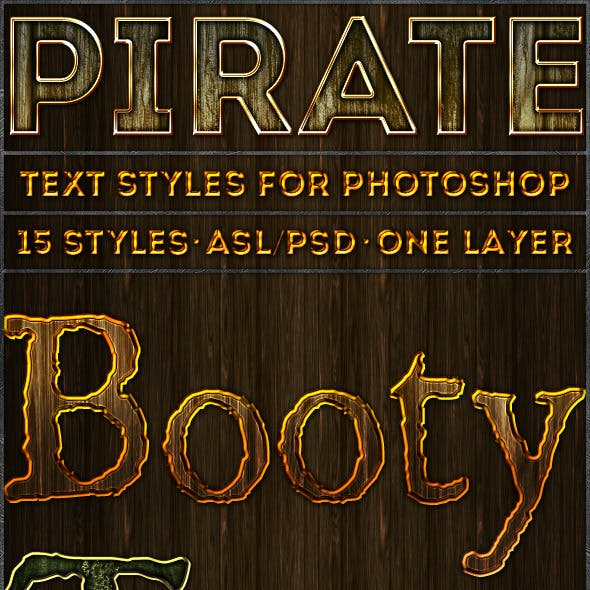 Pirate - Text Styles