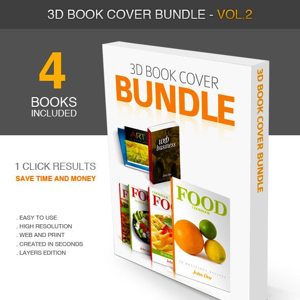 3D Book Cover vol.2 - Bundle