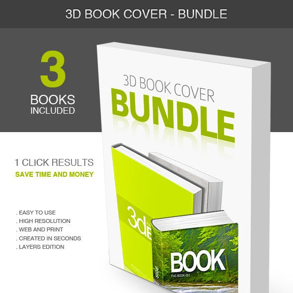 3D Book Cover - Bundle