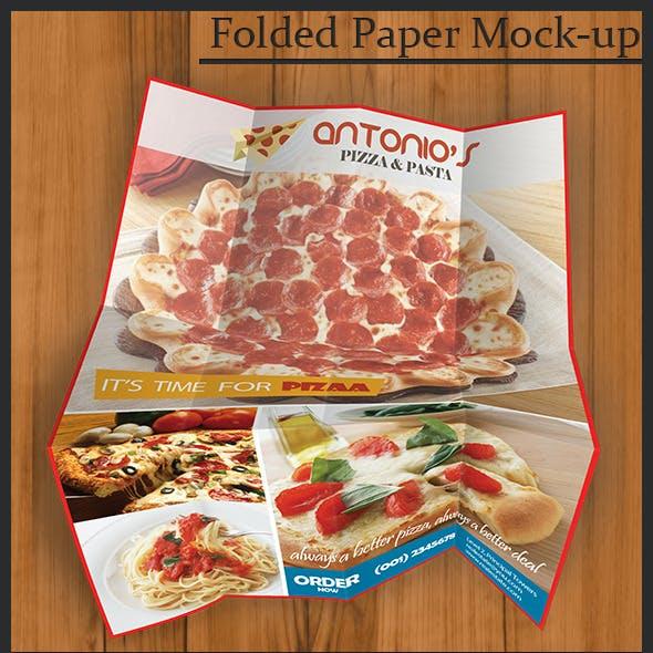 Folded Paper Mock-up