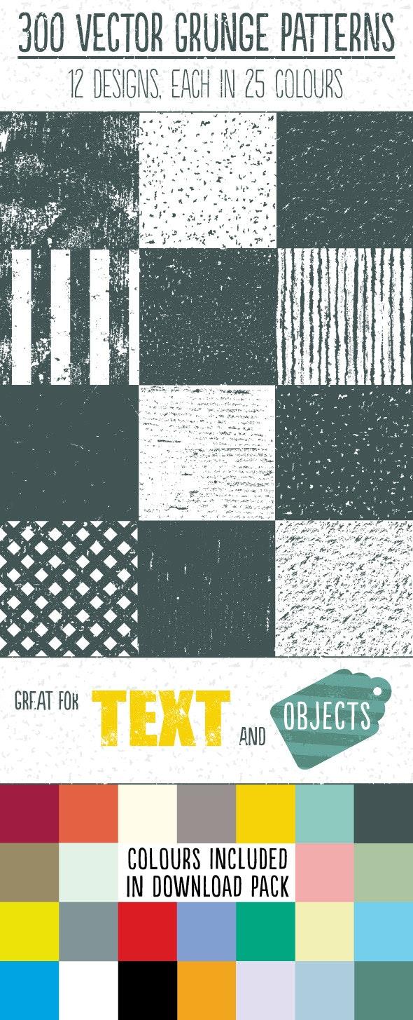 Vector Grunge Repeat Patterns - Textures / Fills / Patterns Illustrator