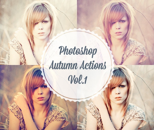 4 Photoshop Autumn Actions - Actions Photoshop