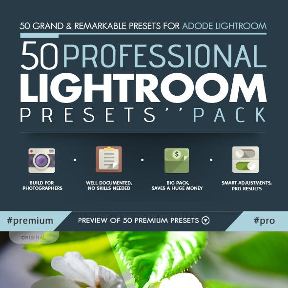 50 Professional Lightroom Presets Pack - Vo.1