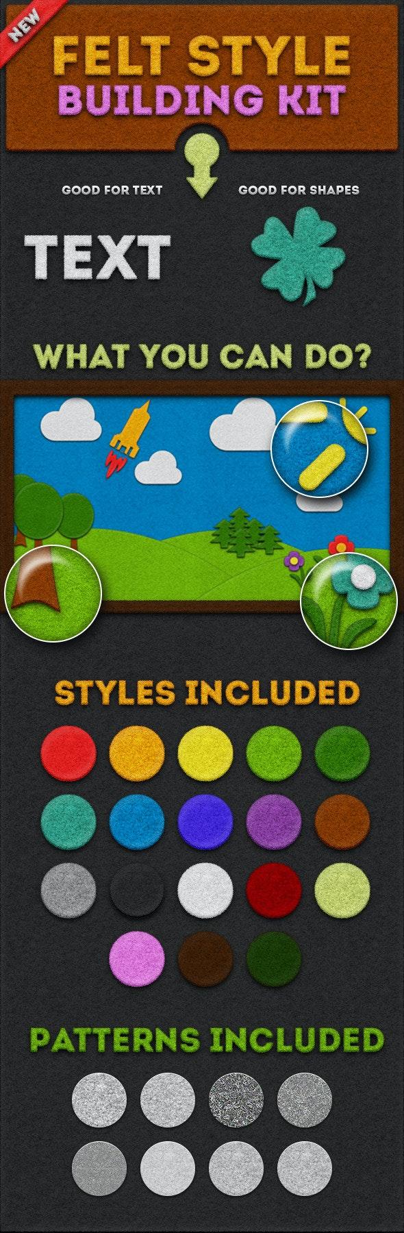 Felt Style Building Kit - Styles Photoshop