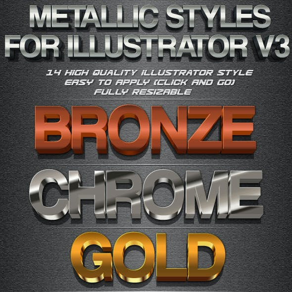 Metallic Styles for Illustrator V3