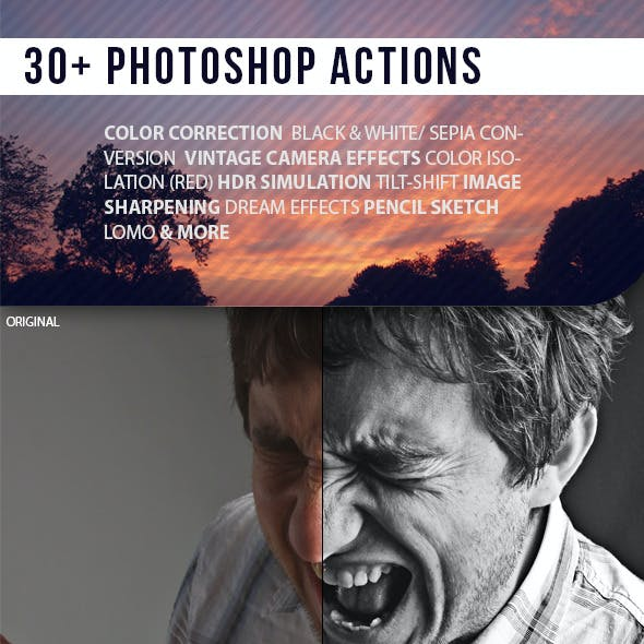 30+ Photoshop Actions Collection